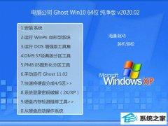 电脑公司Window10 v2020.02 64位 增强春节纯净版
